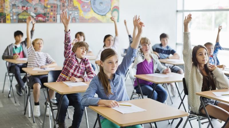 élèves dans une classe